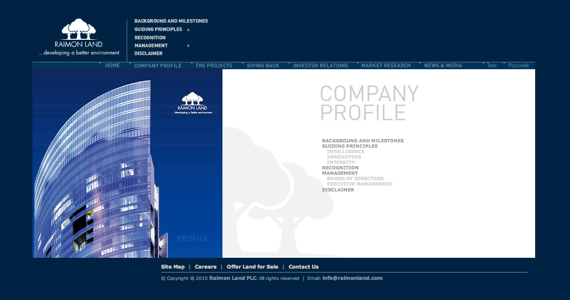 RAIMON LAND CORPORATE - conspiracy creative digital agency
